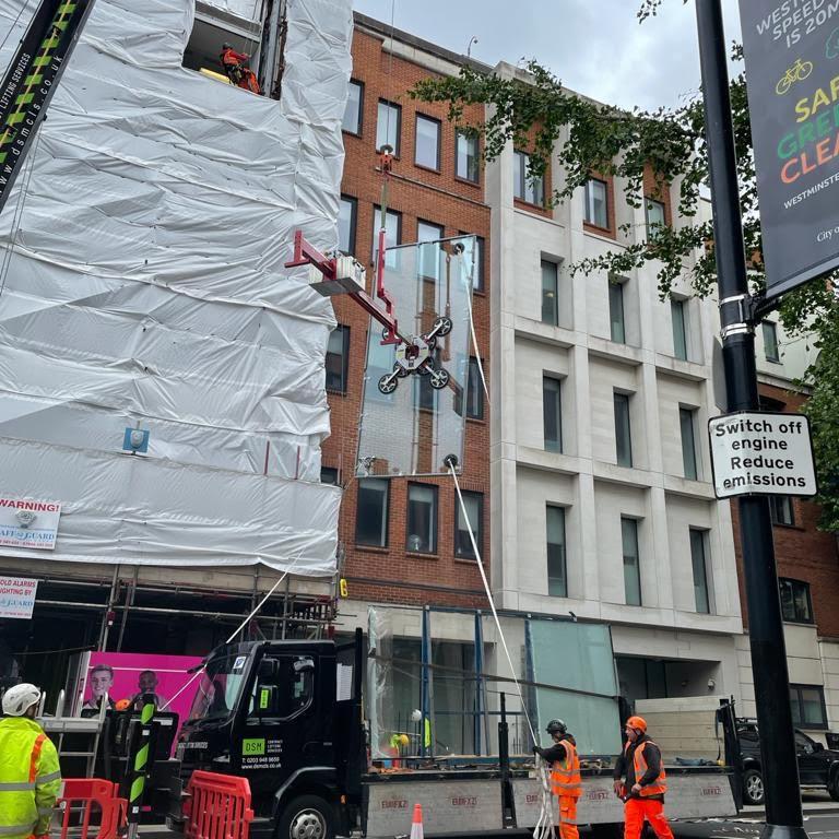 emergency make safe high level glazing